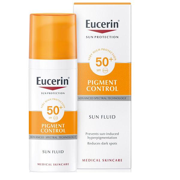 Эуцирин солнцезащитный флюид против пигментации Sensitive protect SPF50+ фл. 50мл