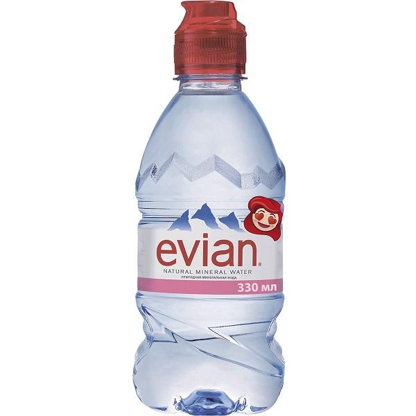 Эвиан вода питьевая высшей категории негазированная для детского питания с 6 мес. бут. 330мл