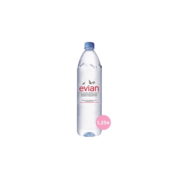 Эвиан вода питьевая высшей категории негазированная для детского питания с рождения бут. 1,25л
