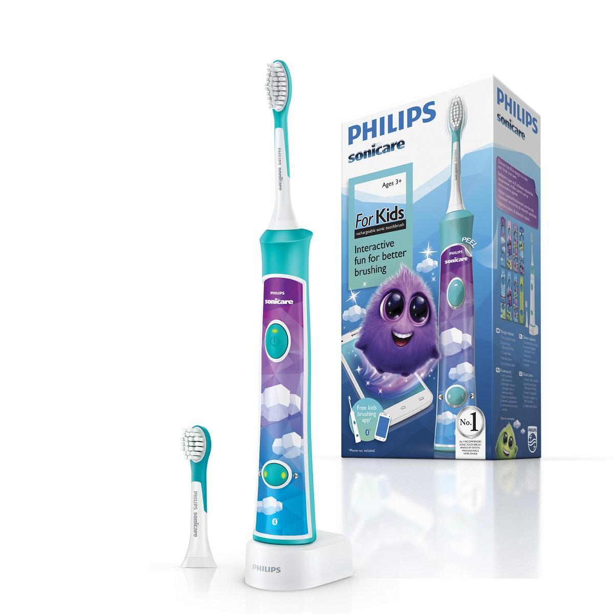 Филипс соникеа щетка зубная электрическая для детей от 3 лет с поддержкой bluetooth
