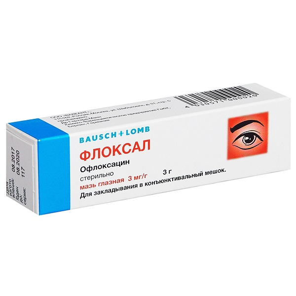 Флоксал мазь глазн. 0,3% 3г