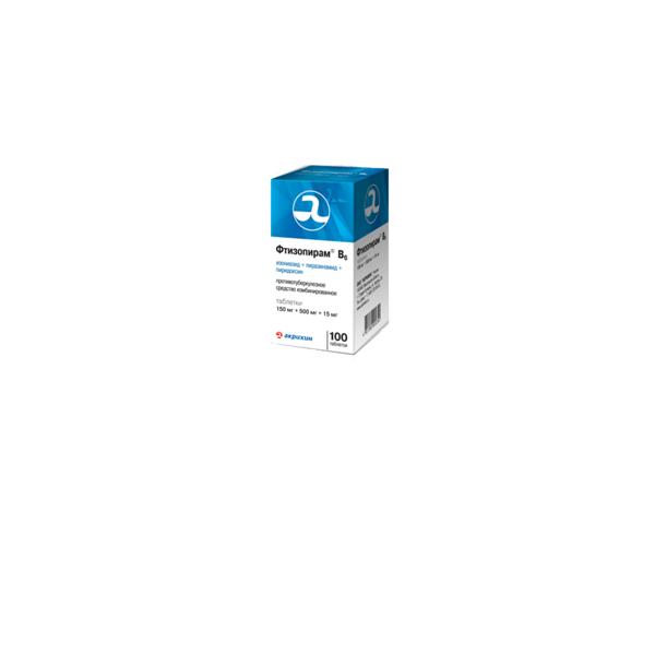 Фтизопирам В6 табл. 150 мг + 500 мг + 15 мг №100