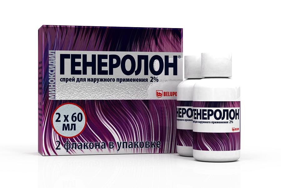 Генеролон спрей д/нар. прим. 2% фл. 60мл №2
