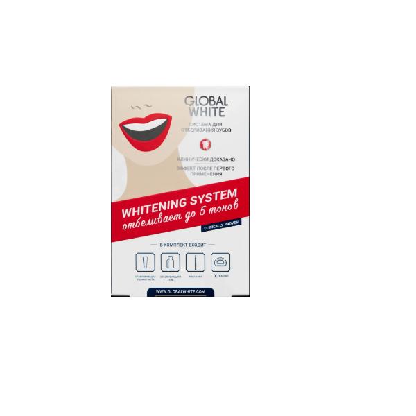 Глобал вайт набор (гель отбелив. д/зубов 15мл+ паста зубная отбелив. 30мл+ инструмент стом. optragate small+кисточка косметич.)