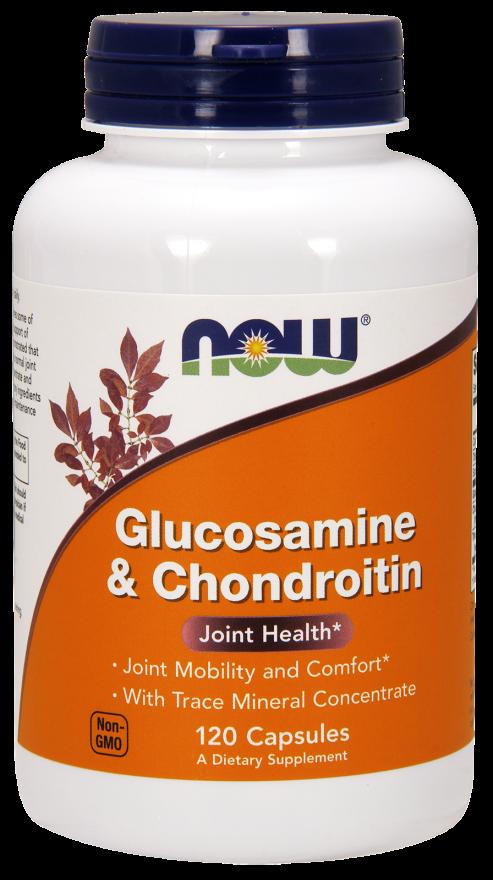 Глюкозамин с хондроитином now таб. 1200мг №120 (бад)