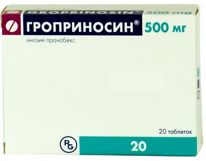 Гроприносин таб. 500мг n20