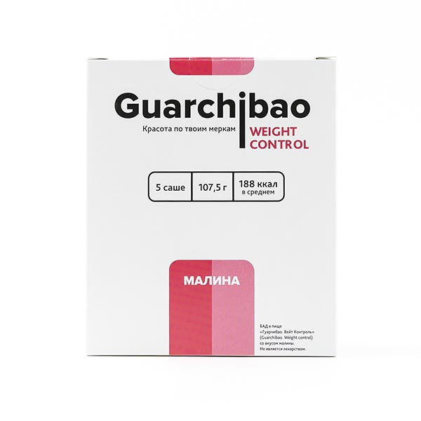 Гуарчибао Вейт Контрол со вкусом малины пор. в саше-пак. 21,5г 5 шт.