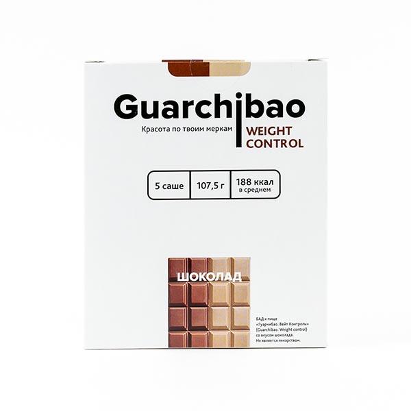 Гуарчибао Вейт Контрол со вкусом шоколада пор. в саше-пак. 21,5г 5 шт.