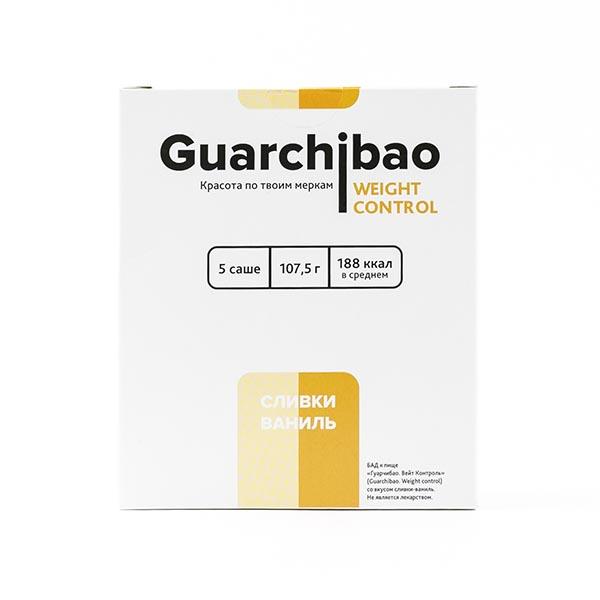 Гуарчибао Вейт Контрол со вкусом сливки-ваниль пор. в саше-пак. 21,5г 5 шт.