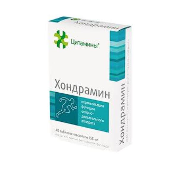 Хондрамин таб. п/о кишечнораств.155мг № 40 (бад)