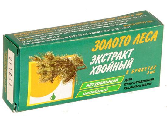 Хвойный экстракт д/ванн брикеты 50г n2 (золото леса)