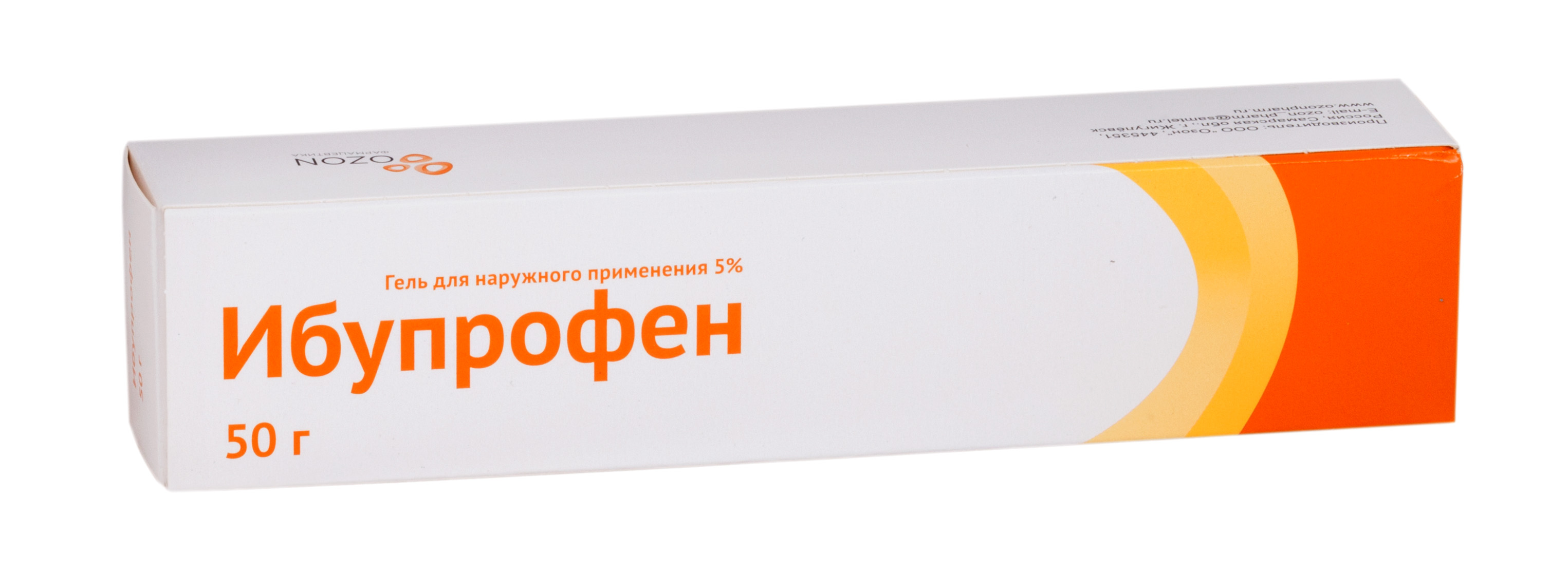Ибупрофен гель д/наружн. прим. 5% 50г №1 Озон