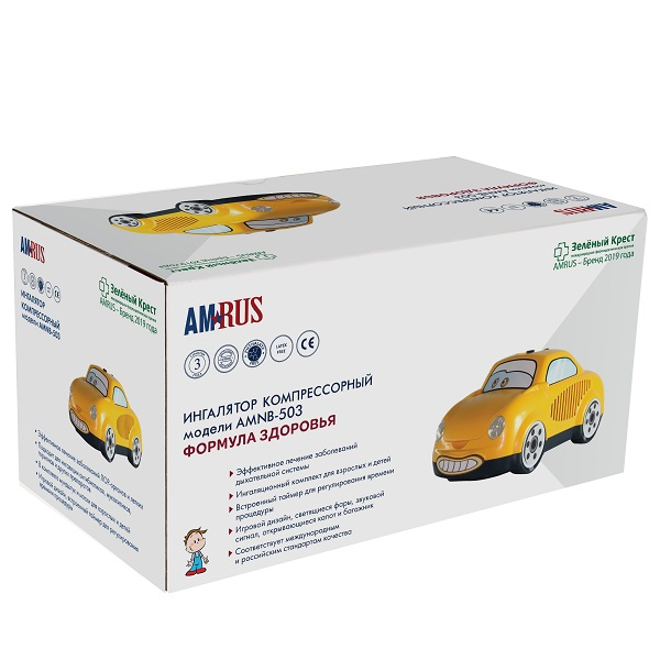 Ингалятор компрессорный amnb-503 формула здоровья (детский)