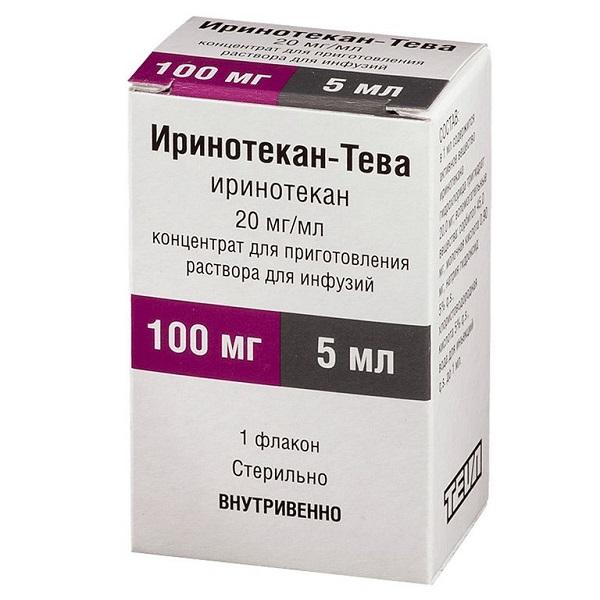 Иринотекан-тева конц. пригот. р-ра д/инф. 20мг/мл фл. 5мл №1