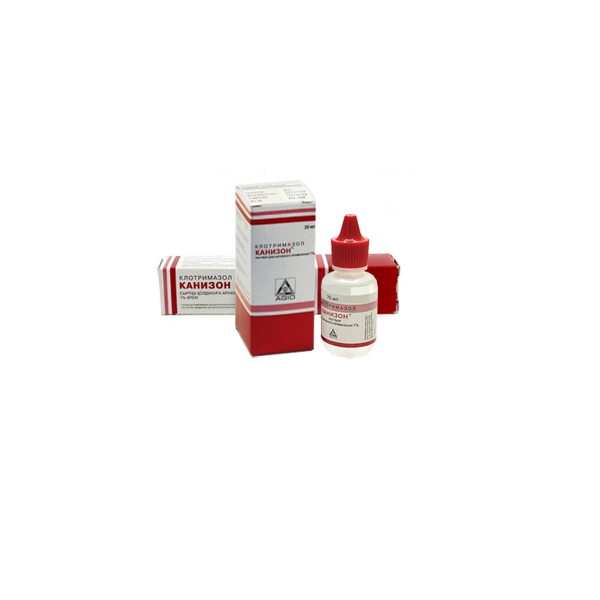 Канизон (клотримазол) раствор для наружного применения 1% флакон 20мл