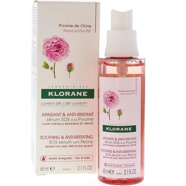 Клоран сыворотка успокаивающая с экстрактом пиона для раздраженной и чувствительной кожи головы фл. 65мл (c65078)