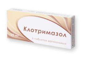 Клотримазол таблетки ваг. 100мг №6 Озон