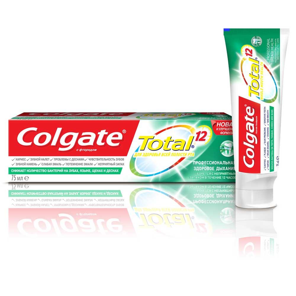 Колгейт паста зубная тотал 12 про здоровое дыхание туба 75мл (mx03535a)