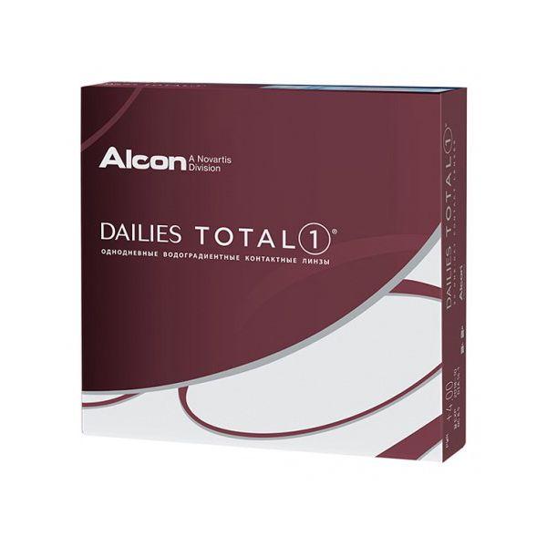 Контактные линзы dailies total 1 8,50 14,1 -00.75 90 шт Alcon