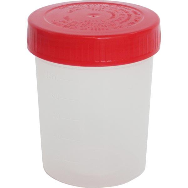 Контейнер полимерный с крышкой для биологического материала стерильный 100мл