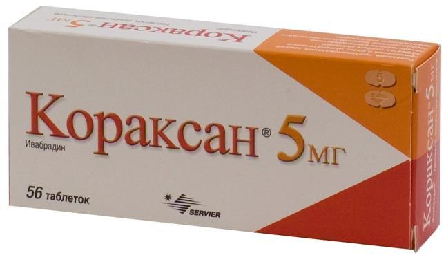 Кораксан таб. п.п.о. 5мг n56