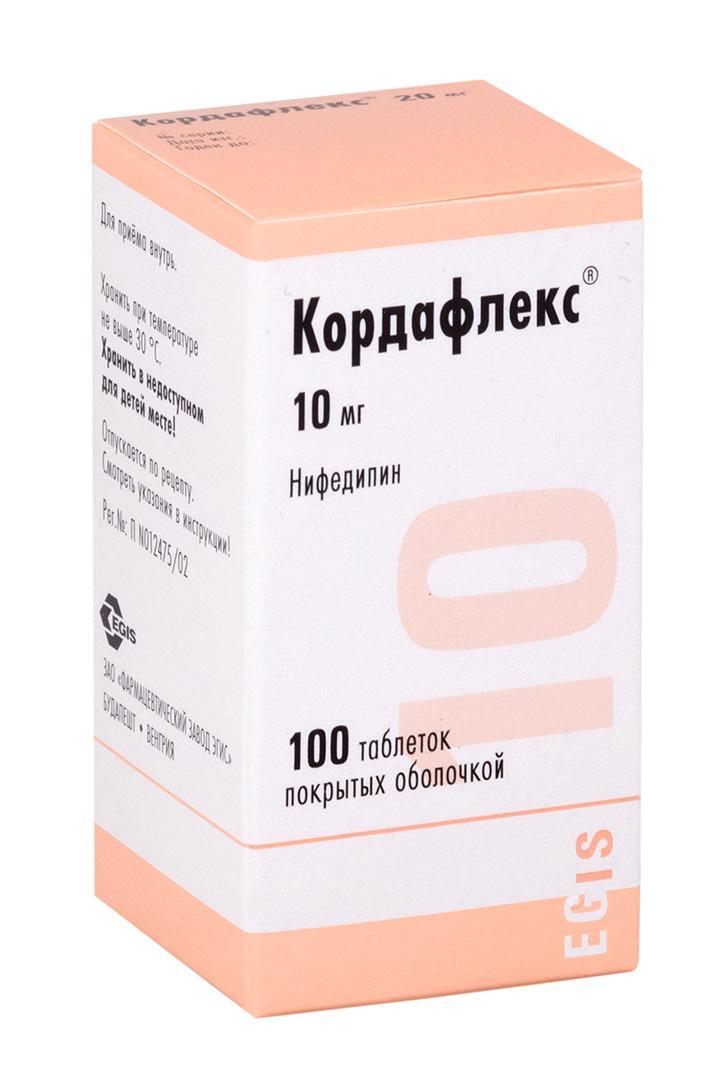 Кордафлекс таб. п.о 10мг n100