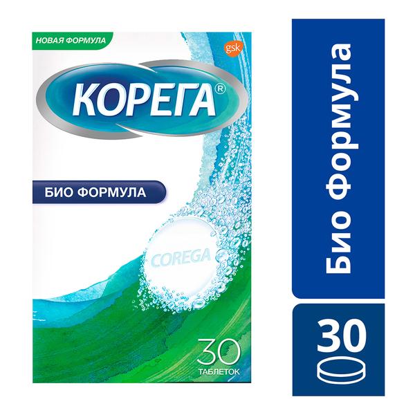 Корега био формула таб. д/очистки зуб протезов n30