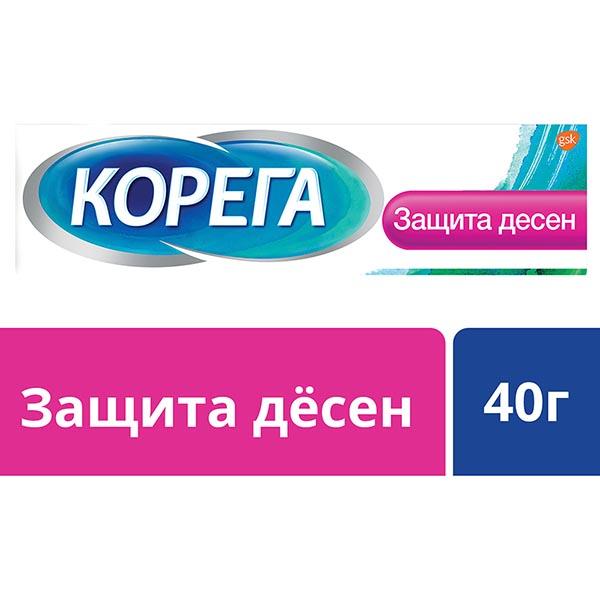 Корега крем д/фиксации зубных протезов защита десен туба 40мл