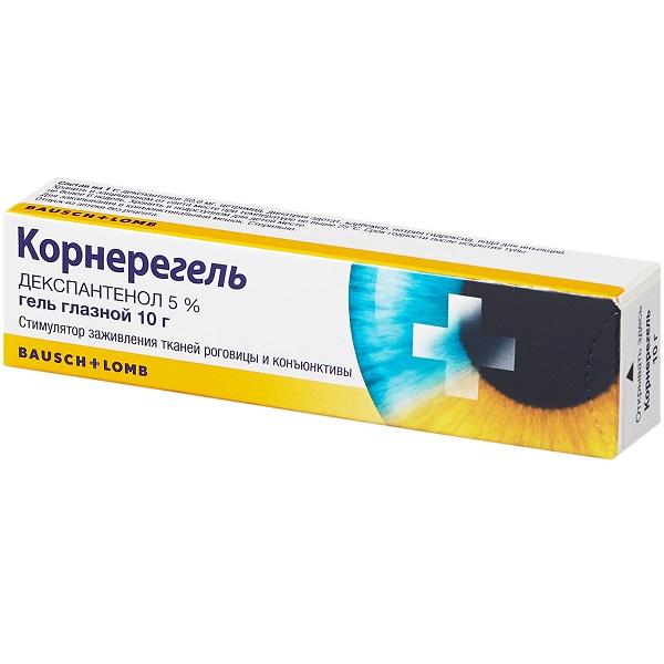 Корнерегель гель глазн. 5% 10г