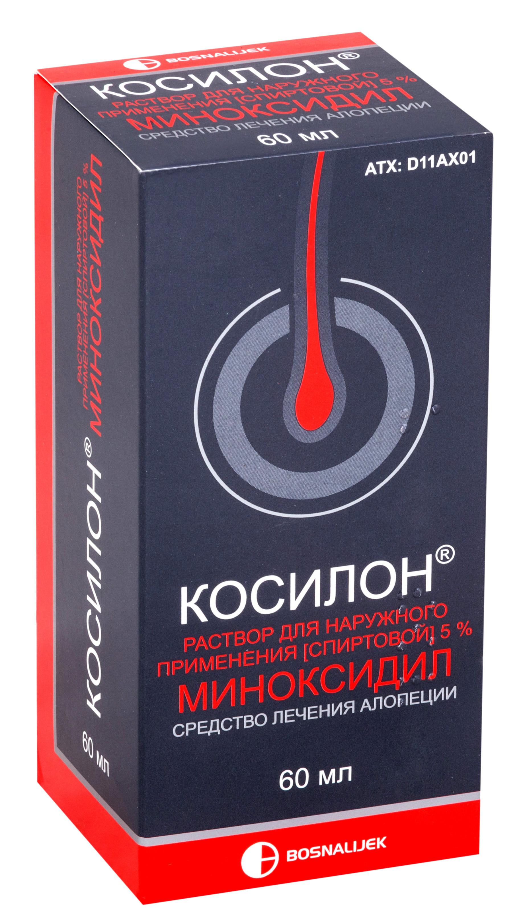 Косилон р-р наруж. 5% 60мл