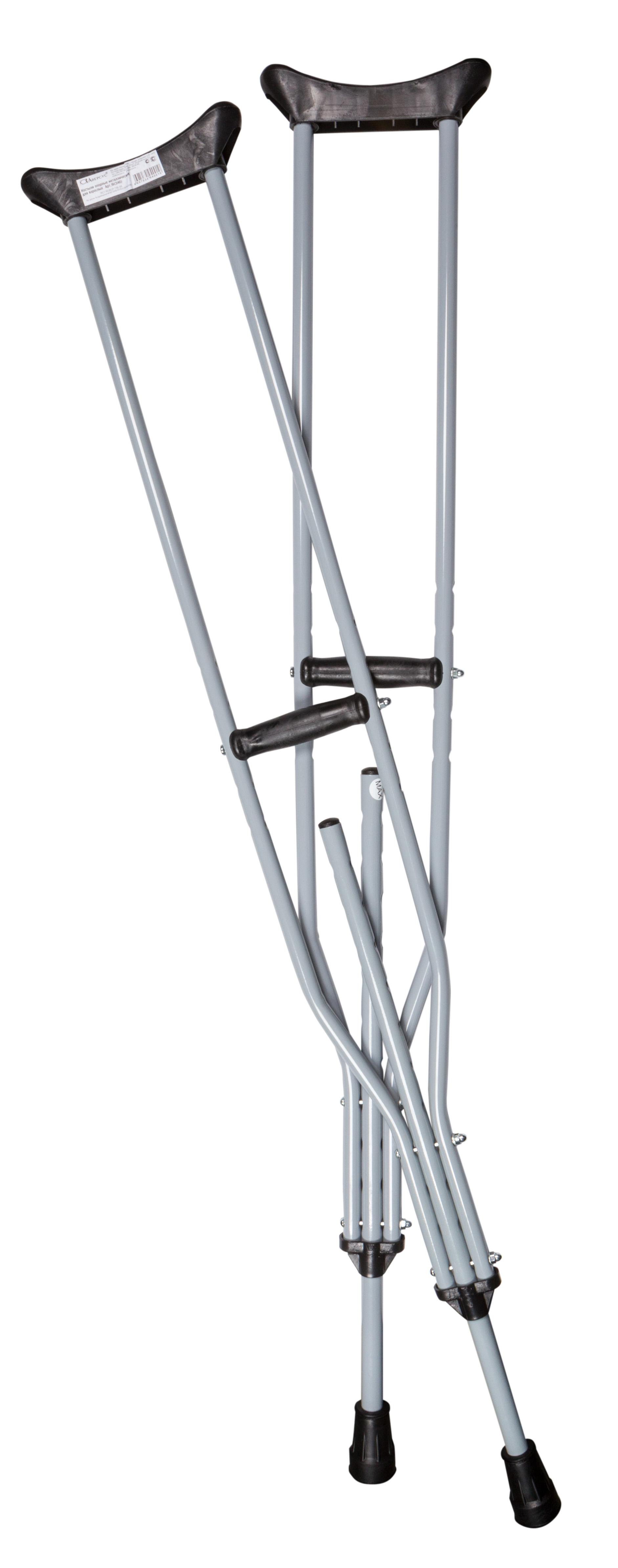 Костыли опорные металлические д/взрослых n2 (16/540)