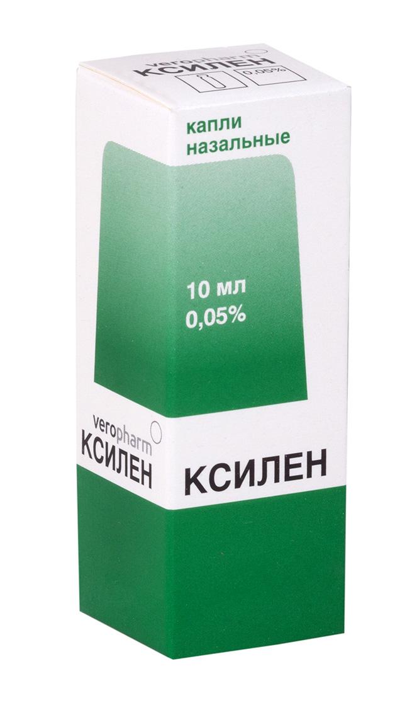 Ксилен капли наз. 0,05% 10мл n1