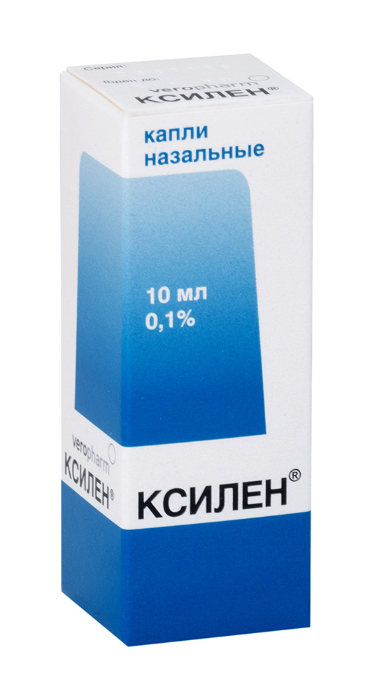 Ксилен капли наз. 0,1% 10мл n1