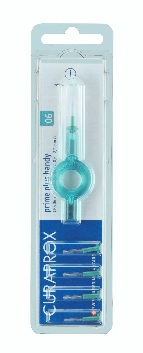 Курапрокс ершик д/ухода за межзубными промежутками и полостью рта 0,6-2,2мм с держателем prime plus №5 (cps06 plus uhs409)