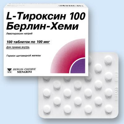 L-тироксин 100 берлин-хеми таб. 100мкг n100