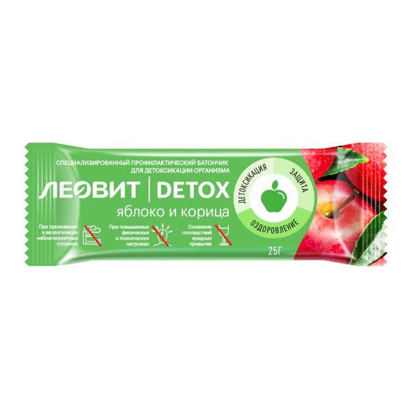 Леовит батончик детоксикационный с яблоком и корицей detox 25г №1