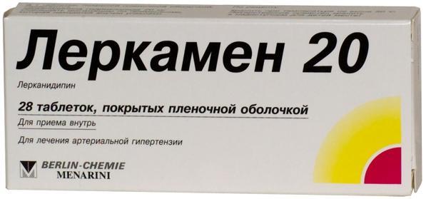 Леркамен 20 таб. п.п.о. n28