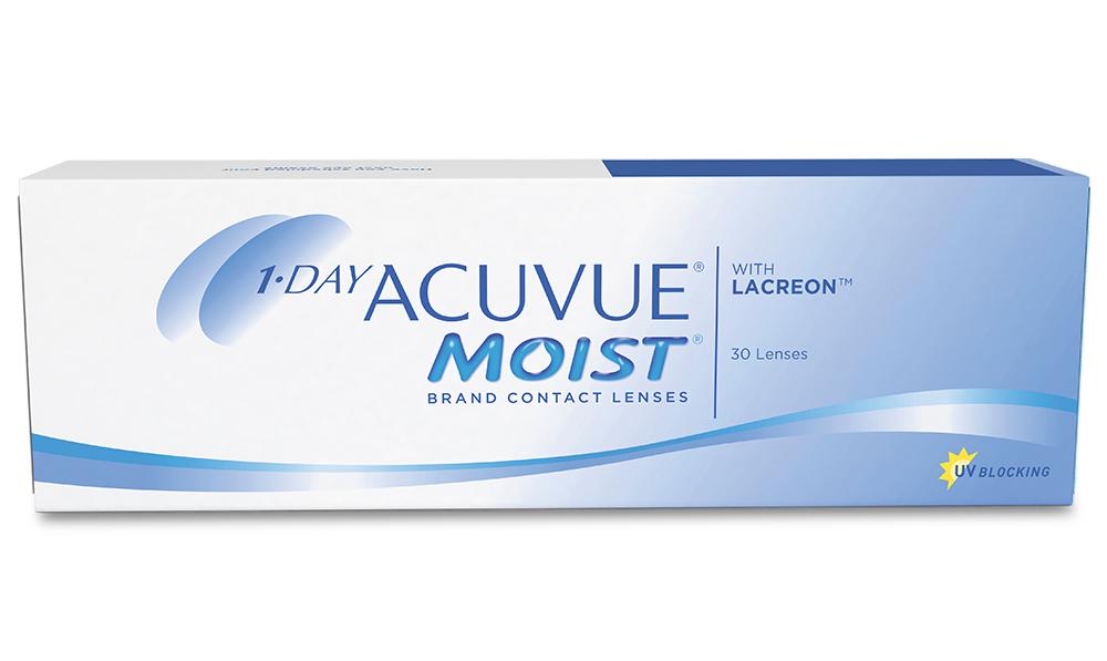 Линзы контактные 1 DAY ACUVUE MOIST (-1.00/8.5/14.2) №30