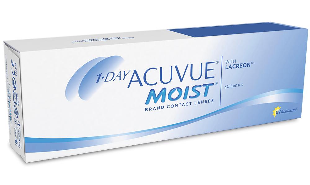 Линзы контактные 1 DAY ACUVUE MOIST (-2.00/8.5/14.2) №30