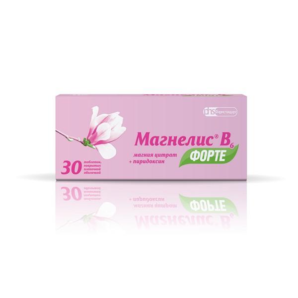Магнелис b6 форте таб. п.о 100мг+10мг n30