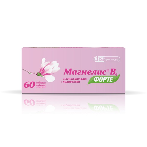 Магнелис b6 форте таб. п.о 100мг+10мг n60