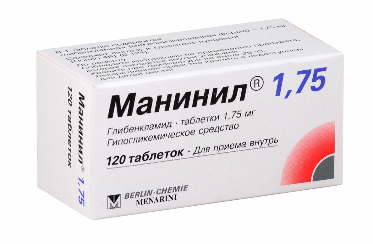 Манинил 1.75 таб. 1,75мг n120
