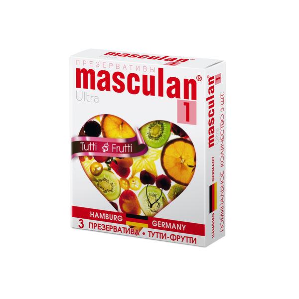 Маскулан презервативы masculan 1 ultra №3 нежные с ароматом тутти-фрутти