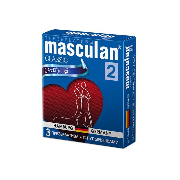 Маскулан презервативы masculan 2 classic №3 с пупырышками