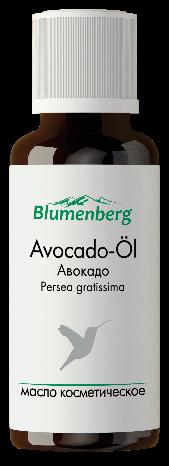 Масло косметическое авокадо блюменберг blumenberg, фл. 30мл