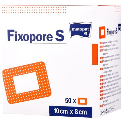 Матопат повязка стерильная fixsopore s из нетканого материала с впитывающей прокладкой 10х8см №50