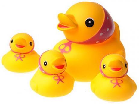 Мд курносики игрушка д/ванны семейка уточек (25073)