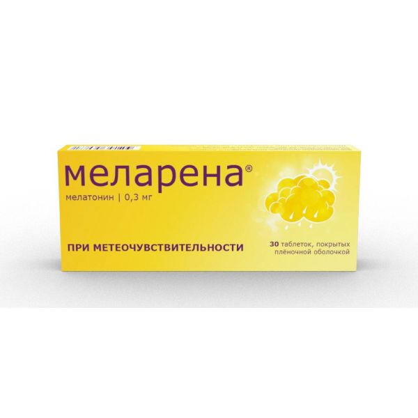 Меларена таб. п.п.о. 0,3мг n30