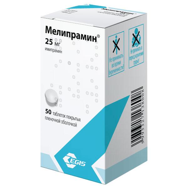 Мелипрамин таб. п.п.о. 25мг n50
