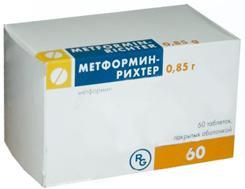 Метформин-рихтер таб. п.п.о. 850мг n60
